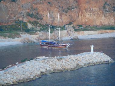 Turecká plachetnice gulet